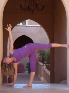 Nele Van Poucke with Omnitom Yoga&Fusion wear clothes