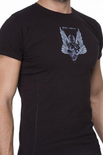 Male Ganesha Rocks T-shirt, urban black color