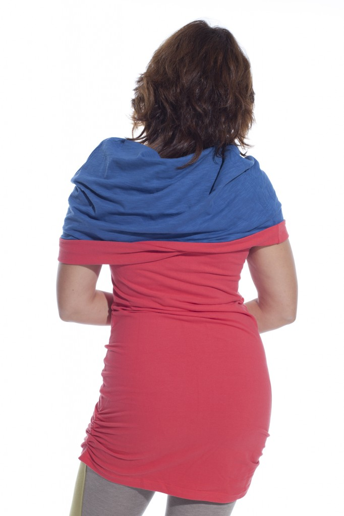 canopy multiway tunic in coral color