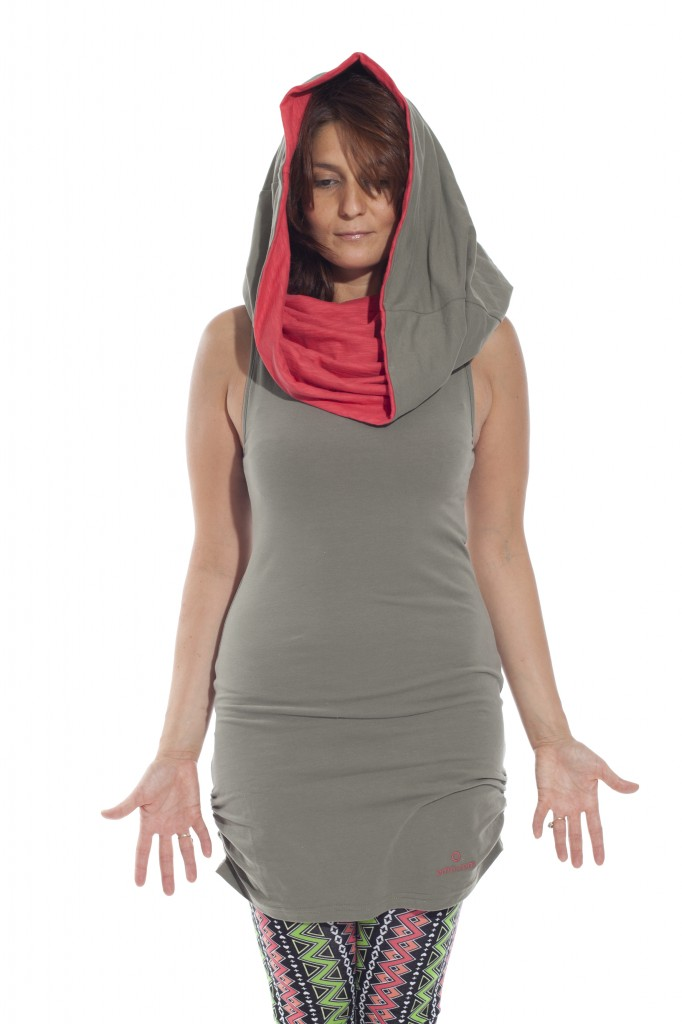 canopy multiway tunic in olive green color