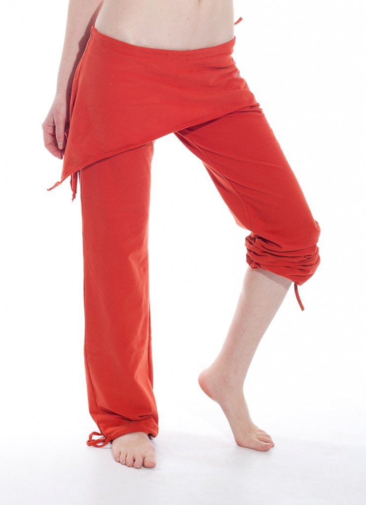 Felicity skirted pants in buddhi orange color