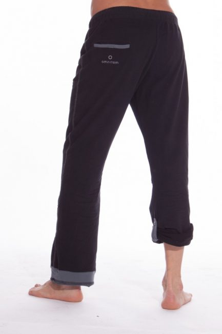 The male roll up pants in urban black color