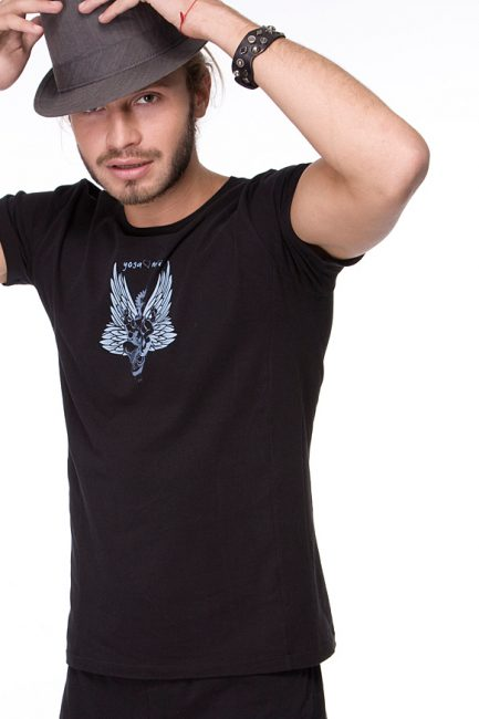 Male Ganesha Rocks T-shirt, urban black color
