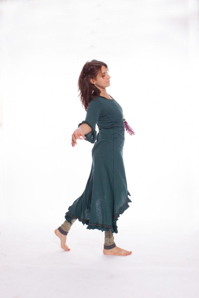 deap teal dress