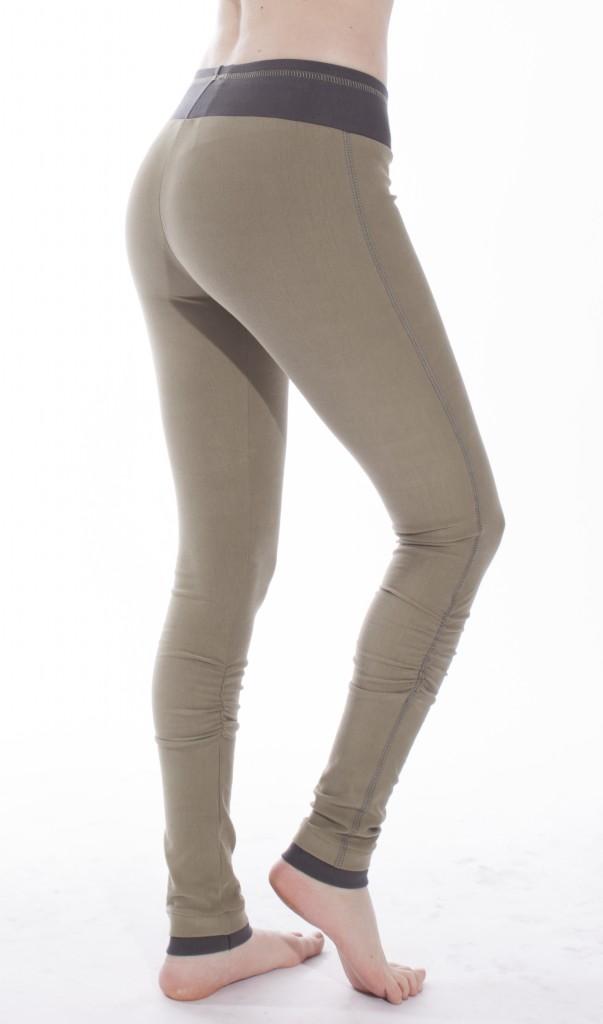 khaki winter wonder leggings