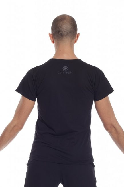 flower of life male t-shirt in black